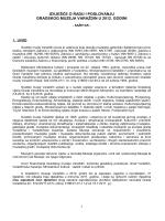 Izvješće o radu i poslovanju GMV-a u 2012. godini