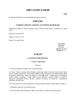 Zakon o zaštiti od požara (NN br.: 92/2010)