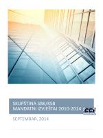 Izvještaj o radu Skupštine Srednjobosanskog kantona za period 2010