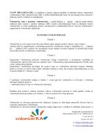 Ugovor o volontiranju