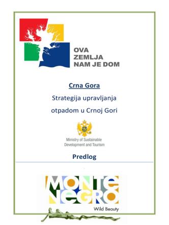 Crna Gora Strategija upravljanja otpadom u Crnoj Gori
