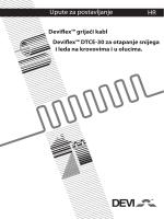 Deviflex™ DTCE-30 grijači kabl