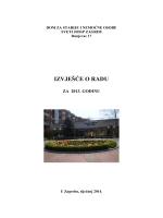 Izviješće o radu za 2013. godinu - Dom za starije osobe Sveti Josip