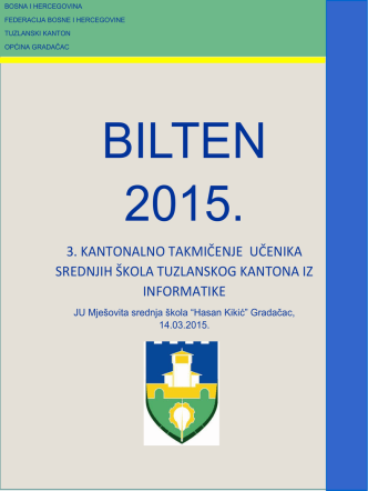3. kantonalno takmičenje učenika srednjih škola tuzlanskog kantona