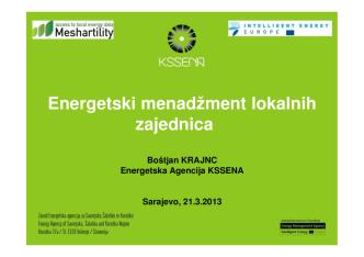 Boštjan Krajnc – Energy management for municipalities