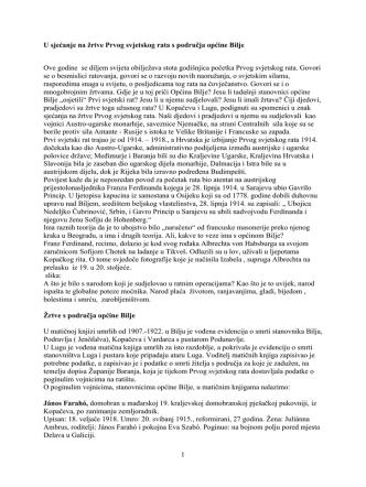 1 U sjećanje na žrtve Prvog svjetskog rata s područja općine Bilje