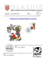 Glasnik Hrvatskog filatelističkog saveza br. 9/13
