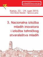3. Nacionalna izložba mladih inovatora i izložba
