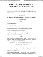 Pravilnik o obavljanju gospodarskog ribolova na moru NN 63-2010