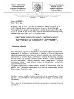 Pravilnik o disciplinskoj odgovornosti zaposlenih na SPU