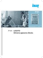 P191 LEGITO Glineno-gipsana žbuka P191