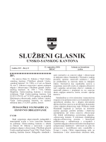 Sluzbeni glasnici 13 - Vlada Unsko