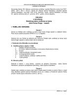 ODLUKU o donošenju Detaljnog plana uređenja za kamp (auto