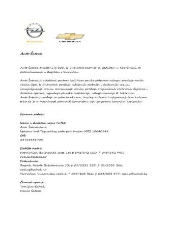 Auto Šatrak - hpi.com.hr