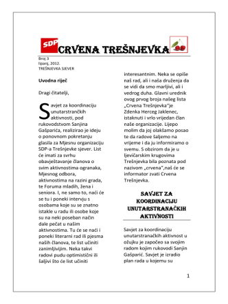 CRVENA TREŠNJEVKA - SDP Trešnjevka sjever Zagreb