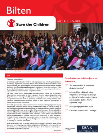 Bilten - North West Balkans | Save the Children