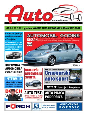 Auto časopis: januar 2011