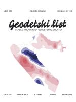 Geodezija 2014-03.indb - Hrvatsko geodetsko društvo
