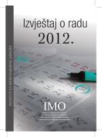 Izvještaj o radu, 2012.