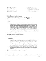 Moralnost i misticizam (etička istraživanja morala i religije)