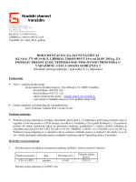 Dokumentacija za javni natječaj za prodaju preostalog poslovnog