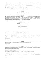 Ugovor o financijskoj potpori za projekt