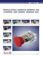 Katalog upravljačko signalnih aparata serije 1TP22 (PDF)