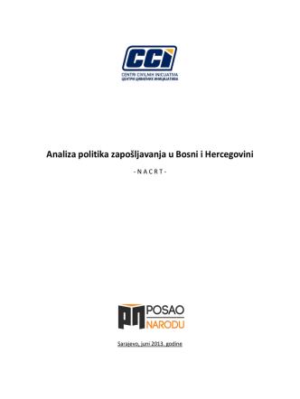 Analiza politika zapošljavanja u Bosni i Hercegovini
