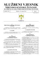 07/14 - Šibensko-kninska županija