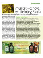 Imunitet - osnova kvalitetnijeg života