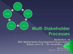 Multi-Stakeholder Processes - Karzen and Karzen | Karzen and