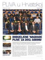 DODIJELJENE `NAGRADE PLIVE` ZA 2012. GODINU