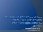 važan dio uspješnog partnerskog odnosa/braka – Nataša