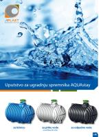 Uputstvo za ugradnju spremnika AQUAstay