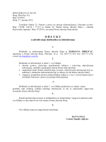 Odluka ravnatelja o određivanju službenika za informiranje