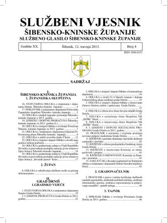 04/13 - Šibensko-kninska županija