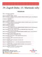 Program - 39. Zagreb Delta Rally