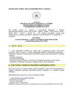 Natječaj za upis u I. godinu diplomskih studija