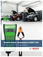 Bosch tester akumulatora BAT 131: Brzo, precizno i pouzdano