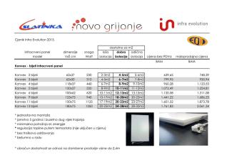 Cjenik Infra Evolution 2013. (PDF)