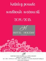Katalog ponude svadbenih svečanosti 2014./2015.