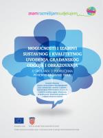 Izazovi uvodjenja GOO - Građanski odgoj i obrazovanje