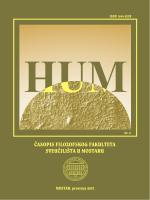 HUM časopis Filozofskog fakulteta Sveučilišta u
