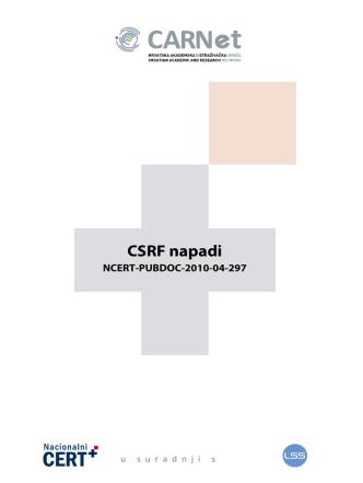 3. CSRF napadi - Laboratorij za sustave i signale
