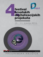 Programska knjižica - Festival hrvatskih digitalizacijskih projekata