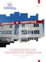 Preuzmi katalog - Univerzitet Sinergija