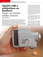 Optički LNB s priključkom za feedhorn Sada i za doista velike antene!