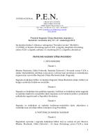1 INTERNATIONAL P.E.N. Pravilnik Nagrade Višnja Machiedo
