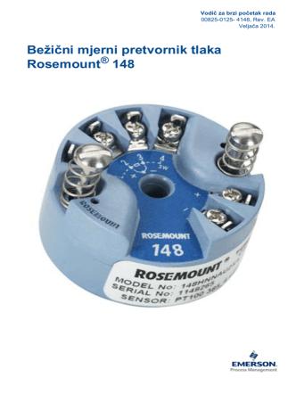 Bežični mjerni pretvornik tlaka Rosemount 148