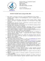 Sustav natjecanja 2014-2015 - Školski športski savez Varaždinske